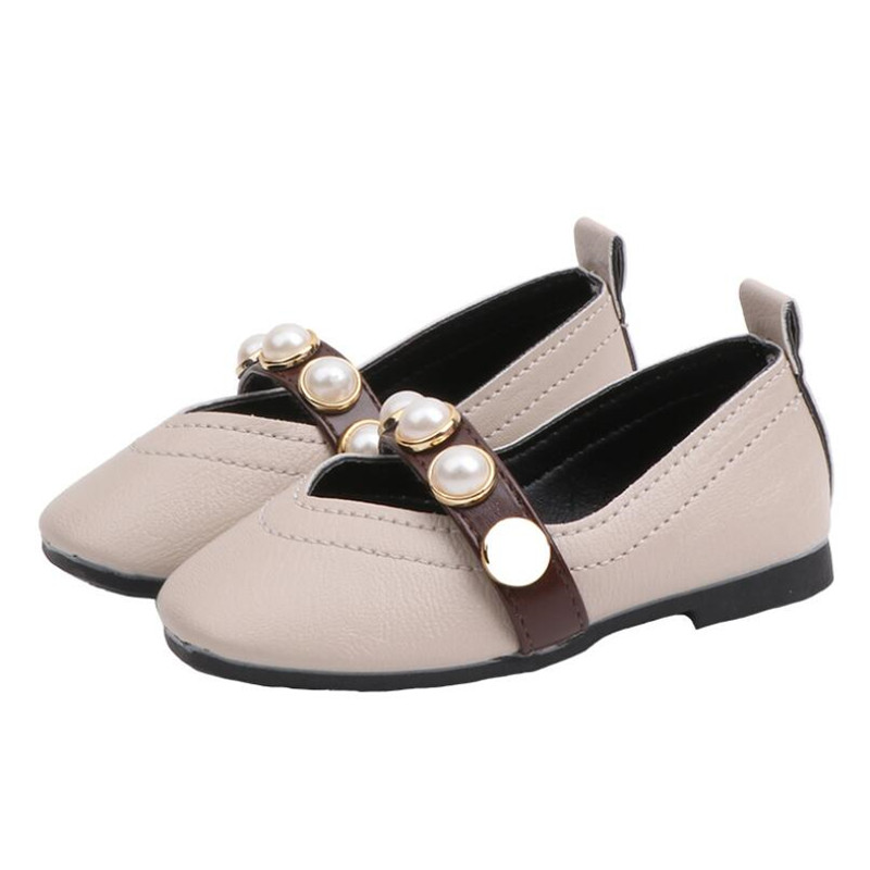 Spring Girls Princess Shoes Toddler Infant Kids Baby Pearl Sandals Shoes Children Shoes Rivets Adornment Fashion Girl DanceShoes