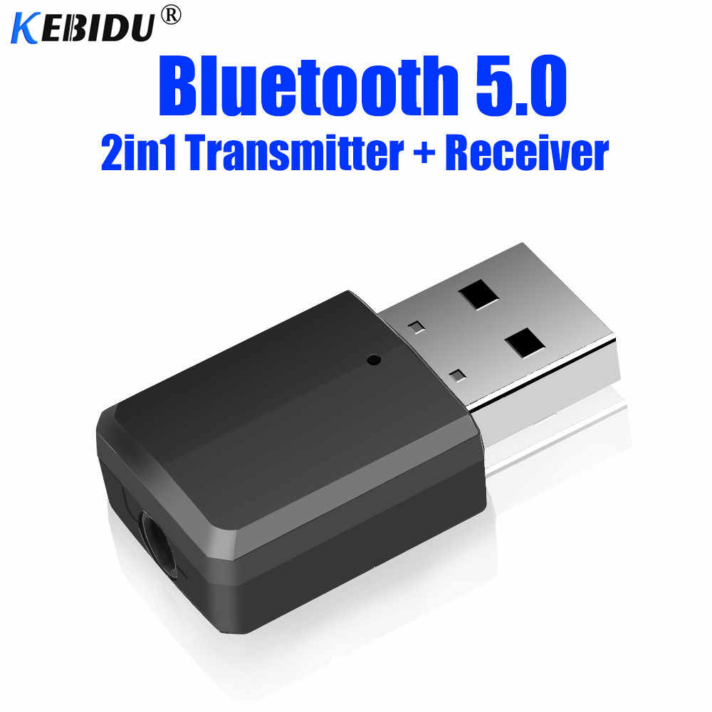 Przenośny nadajnik Bluetooth odbiornik bezprzewodowy adapter Bluetooth 2-in-1 3.5mm AUX Stereo Bluetooth 5.0 adapter do domu TV MP3