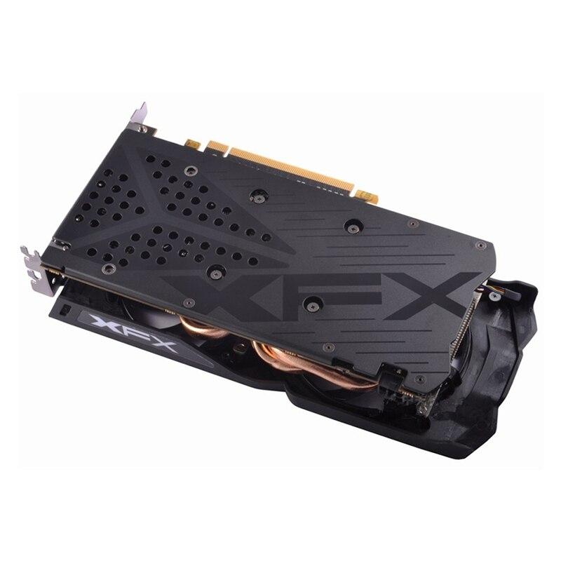 Видеокарта XFX RX 480, 4 Гб, AMD Radeon RX480, GPU, графические карты 4 Гб, PUBG, Настольная компьютерная игровая карта, видеокарта, не Майнинг-1
