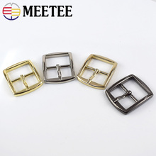 Meetee 5/10pcs 20mm Metal Pin Belt Buckle DIY Shoulder Strap Adjustment Tri Glide Luggage Hardware Sewing Accessories