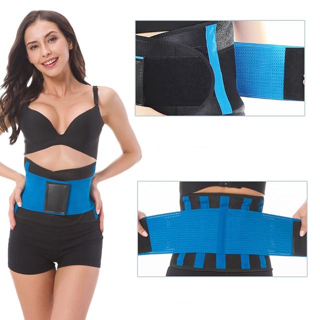 CANFU Womens Shaper Unisex Waist Cincher Trimmer Tummy Slimming Belt Body Shapers Latex Waist Trainer Woman Postpartum Corset 3