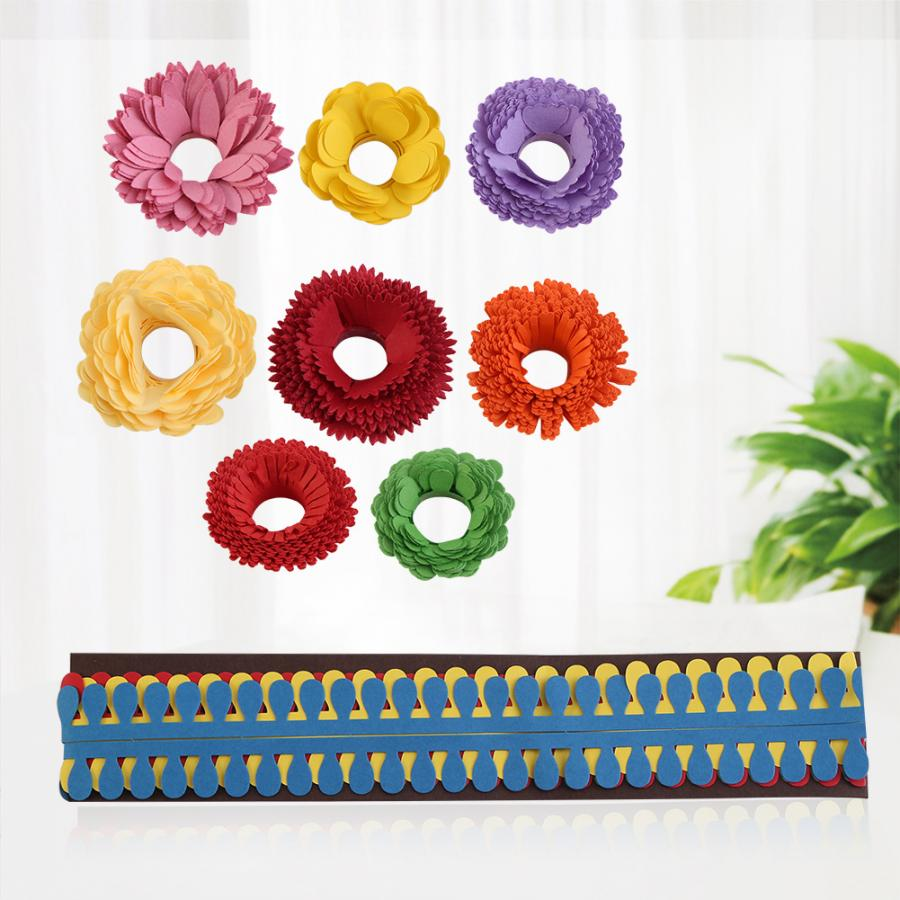 VBESTLIFE 501-9 Quilling Flowers Paper 1 Bag Paper Quilling Flowers Stripes Mixed Different Type Papercraft Material Handmade Art for Handmade DIY Artwork Decoration