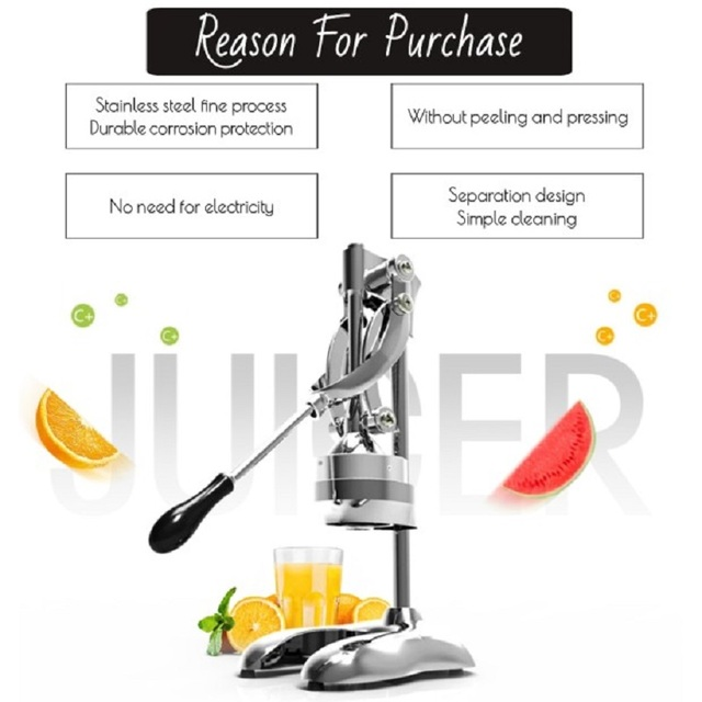 WantJoin Stainless Steel press juicer Lemon Oranges queezer Commercial Pomegranate Fruit Juice Extractor Press juicer maker home 4