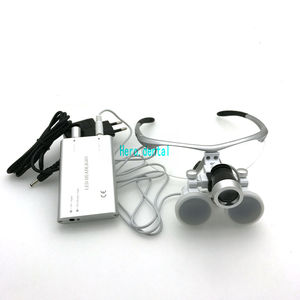 Image 5 - CE Passed Dental Loupes With Light 3.5X420mm Surgical Binocular Glasses Magnifier with LED Headlight