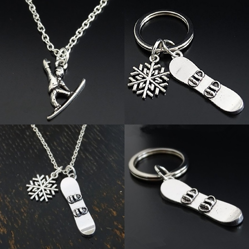 Snowboard Snowboarder Keychain Snowboarding Keychain Key Ring outdoor multi tool camping hiking tools-5