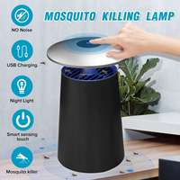 AUGIENB USB 조명 모기 킬러 램프 스마트 터치 LED 전기 자외선 트랩 살해 Repeller 안티 모기 집 파리 곤충