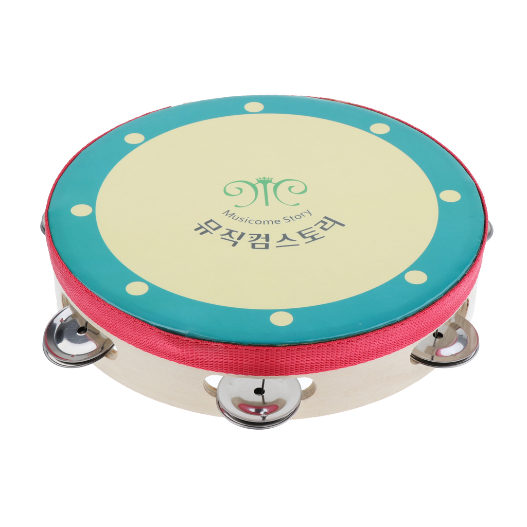 8 Inch Hand DrumBell Korea Tambourines Toy Kids Hand Toy For Children Gift