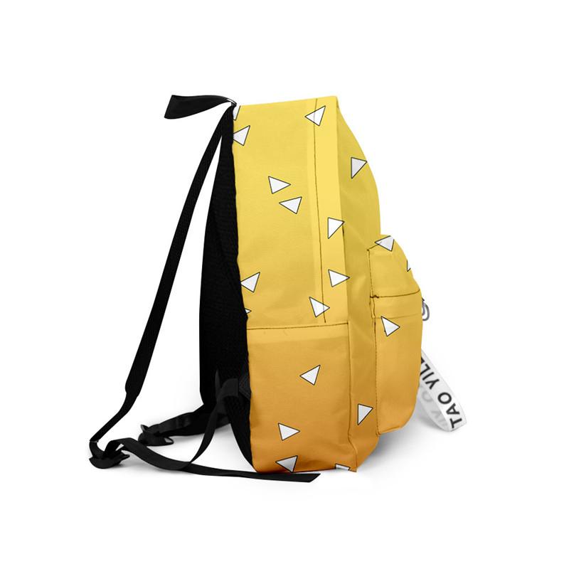 Hf966365a9b894033ac5316c6ad154d221 - Demon Slayer: Kimetsu no Yaiba Backpack Canvas Bag Kamado Tanjirou School Bags Girl Mochila Feminina Nezuko Notebook Bag Cosplay