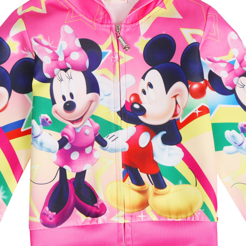 Baby Girl Clothes Cartoon Mickey Minnie Kids Jacket Spring And Autumn Casual Thin Section Girls Coat Hooded Zipper Girls Jackets