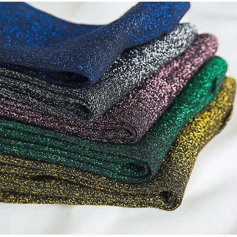 Women's Socks Spring And Autumn Golden Silver Silk Knitted Socks Breathable Glitter Colored Shiny Fashion Women Socks
