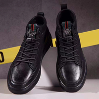 Men's Casual Shoes Classical Designer Luxury Men Black Cozy Breathable Genuine Leather Anti slip Walking Ankle Dress Shoes