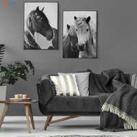 Modern Black and White Posters and Prints Horse Wall Art Canvas Painting Wall Pictures for Living Room Nordic Decoration Home