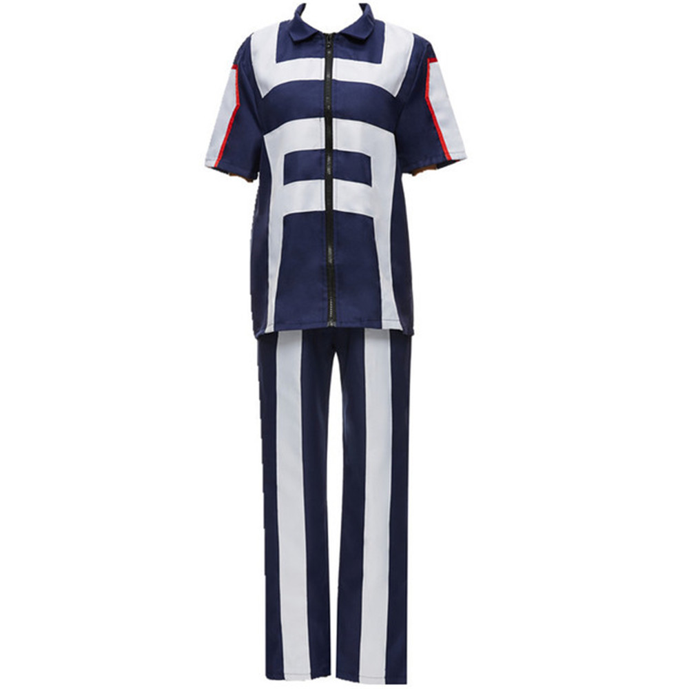 hero bakugou katsuki / Iida tenya / todoroki shouto Cosplay costume my hero Academy Sports Tops corrective + Pants for girl
