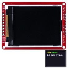 """3.3v 2.0 """"176*220 série spi tft lcd escudo breakout placa módulo com pinos smd para arduino nano pro mini uno r3 mega2560"""