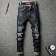 2020 Новая Мода Мужские Джинсы Итальянский Дизайнер Одежда Синий Цвет Тонкий Кнопки Fit Классические Брюки