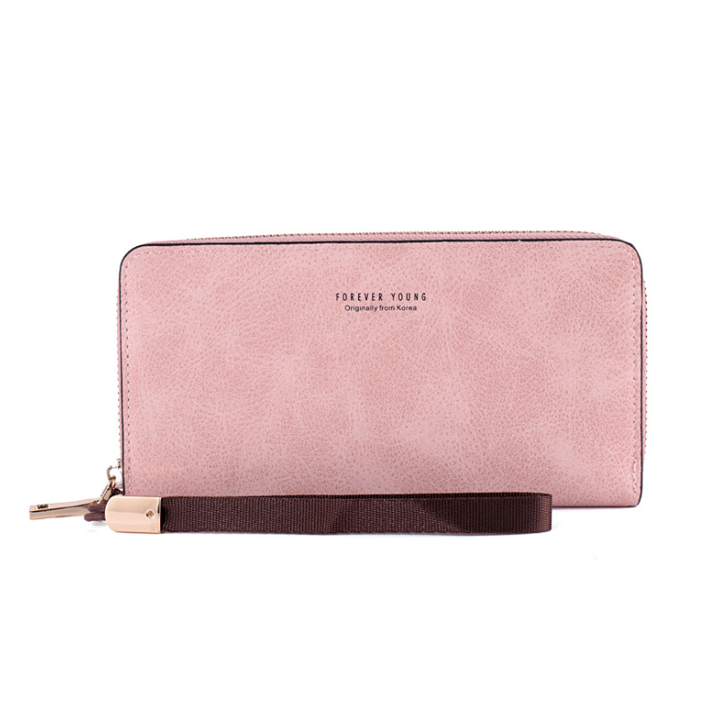Carteira Feminina 2020 New Product Women Long Wallets Zipper Multifunction Large Capacity Pocket PU Wallet 6 Color England Style