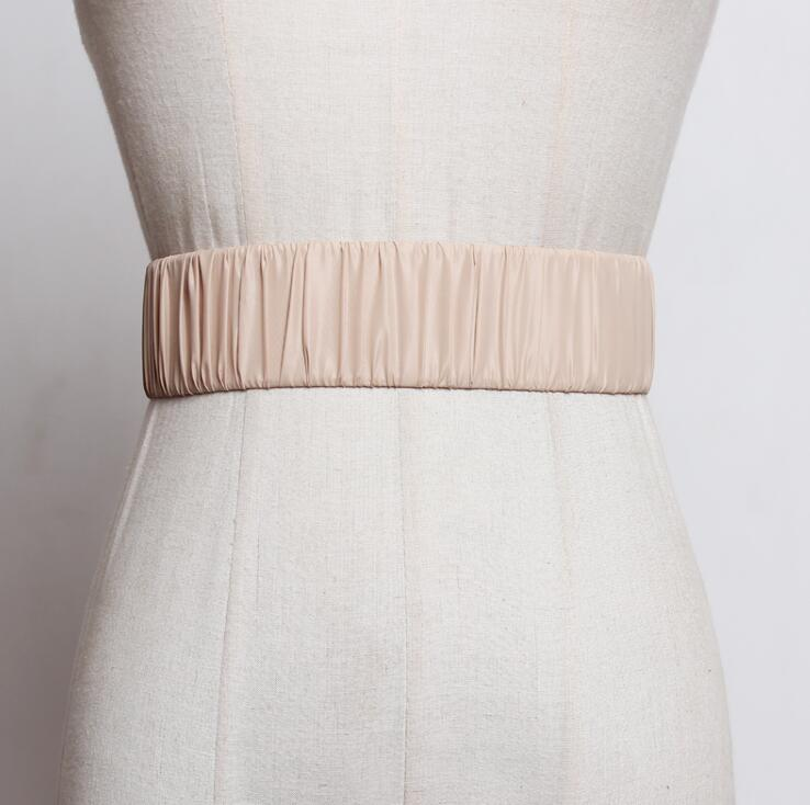 Women's Runway Fashion Elastic Cummerbunds Female Dress Corsets Waistband Belts Decoration Wide Belt R2549