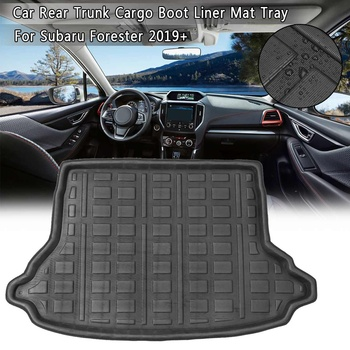 New Boot Mat Rear Trunk Liner Cargo Floor Tray Carpet Mud Pad Kick Guard Protector Car Accessories For Subaru Forester 2019+