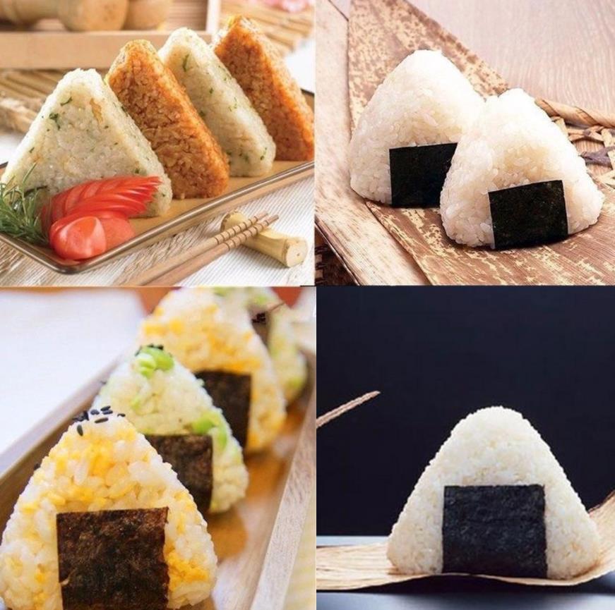 4PCS/Set DIY Sushi Mold Onigiri Rice Ball Food Press Triangular Sushi Maker Mold Sushi Kit Japanese Kitchen Bento Accessories 5