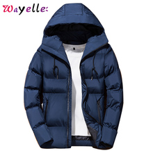 Winter Men Parka Jackets 2019 Mens Solid Color Simple High Quality Casual Down Warm Thick Hooded Parkas For Male