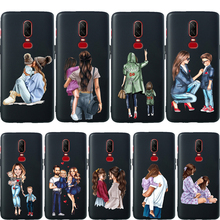 Luxury Baby Mom Girl Super Dad For Oneplus 7 Pro Phone Case 6T 6 5 5T Coque Etui Soft Silicone Protective Cover