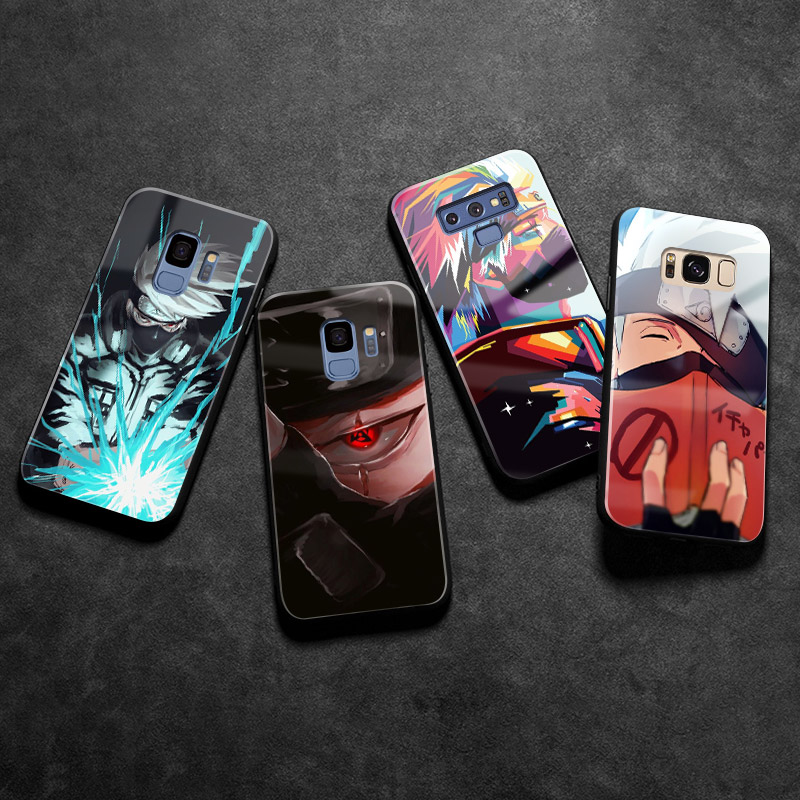 Hatake Kakashi Naruto <font><b>Anime</b></font> <font><b>Phone</b></font> <font><b>case</b></font> tempered glass cover soft coque For <font><b>Samsung</b></font> Galaxy s8 <font><b>s9</b></font> S10E S10 <font><b>plus</b></font> Note 8 9 10 <font><b>PLUS</b></font> image