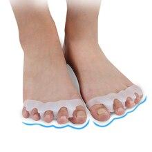 1 paar Silikon Fußpflege Gel Bunion Schutz Toe Separatoren Haarglätter Treuer Korrektoren Hallux Valgus Korrektur