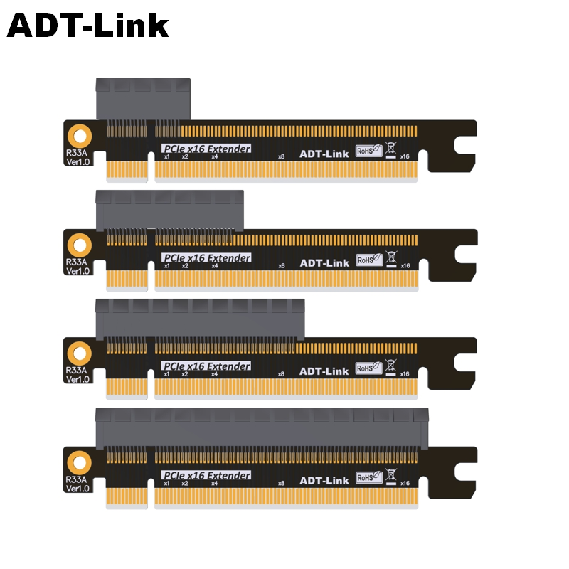 ADT-Link R33A PCIe X1,x4,x8,x16 To X16 Riser Adapter