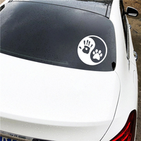 Dog Hand Car Sticker 4