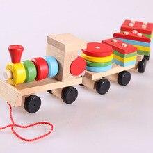 2020 Kids Baby Developmental Toys Wooden Train Truck Learning Toys For Children Geometric Blocks Wonderful Gift Toy