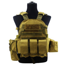 Airsoft Molle Multicam Vest Equipment Paintball Assault Combat Army Hunting Outdoor Tactical