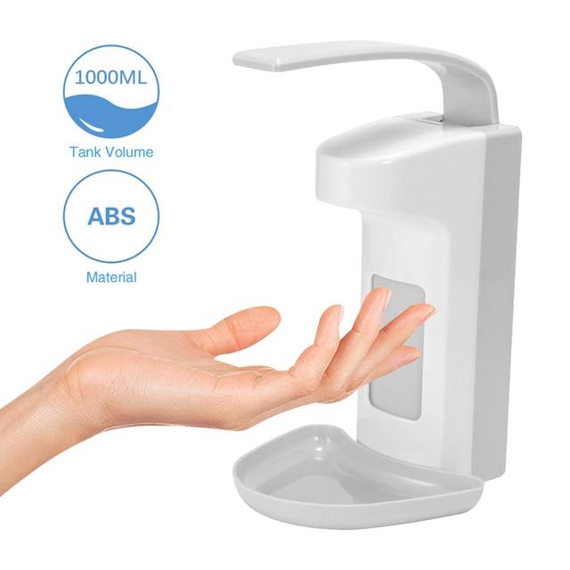Dispensador de sabão líquido montagem na parede 1000ml acessórios do banheiro detergente shampoo dispensadores mão sabão garrafa