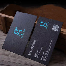 PVC black card gold foil print personalized creative gift business custom logo printing frosted waterproof 200pcs 0.8mm