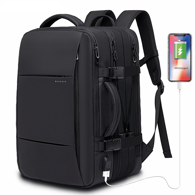 45L Expandable Large Capacity Travel Backpack Men 15.6 inch Laptop Backpack Travel FAA Flight Approved Weekender Bag for women