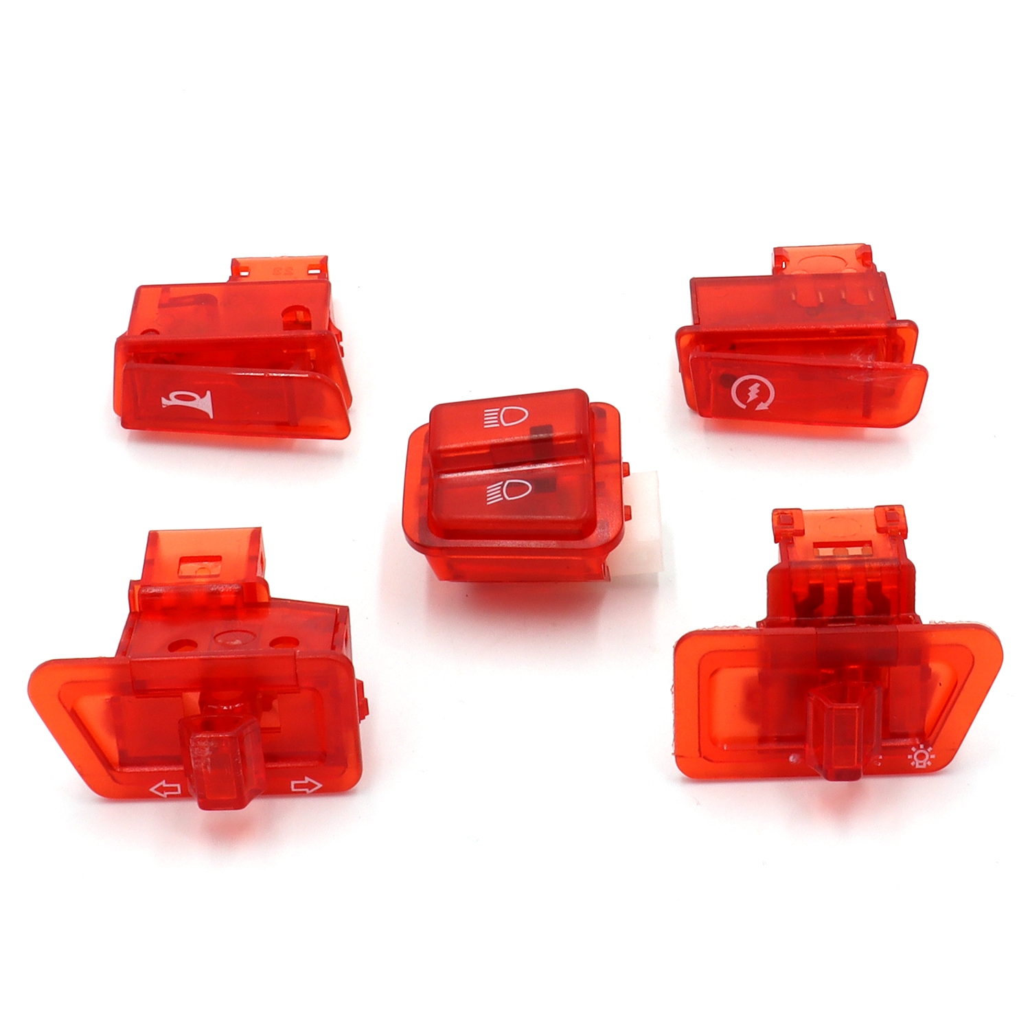 New Pack of Head Light Horn Dimmer Turn Singal Starter Switch Button for Gy6 50cc 125cc 150cc Scooter Moped