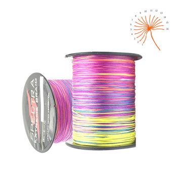 100M 300M 500M 1000M 16 Strands PE Braided Fishing Wire Multifilament Multicolor Super Strong Fishing Line For Saltwater jof x9 500m 300m 100m braided fishing line 9 strands multicolor multifilament saltwater pe line 20 24 35 40 50 65 80lb