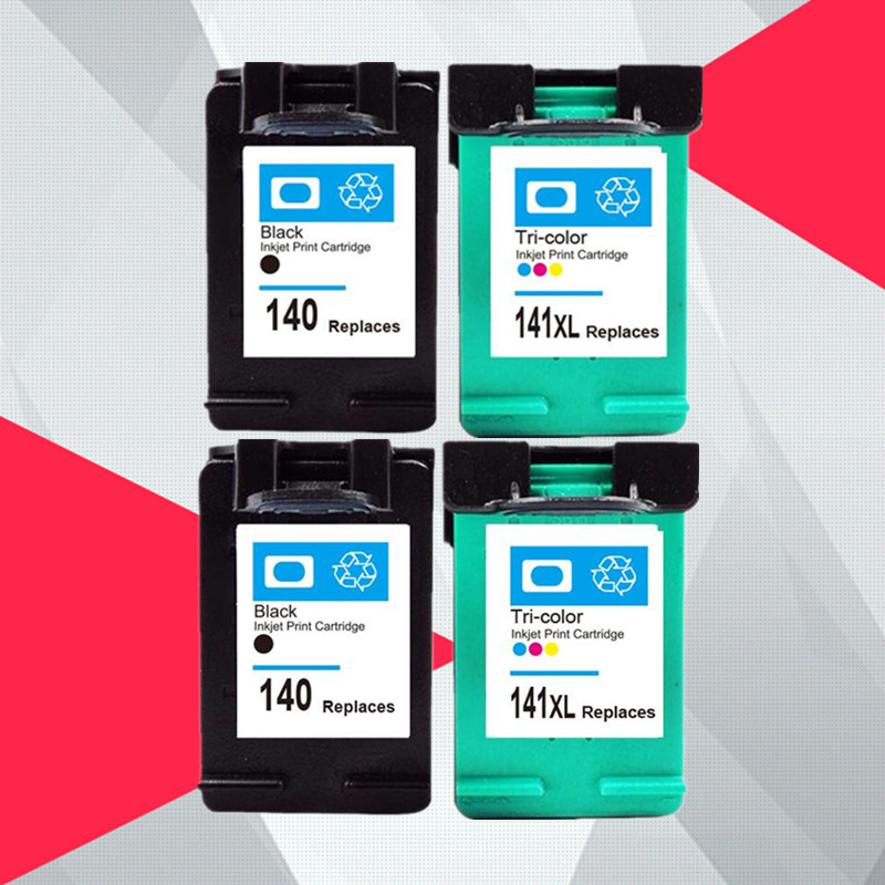Ink cartridge compatible for <font><b>HP</b></font> <font><b>140</b></font> <font><b>141</b></font> for HP140 C4583 C4283 C4483 C5283 D5363 Deskjet D4263 D4363 C4480 printer image