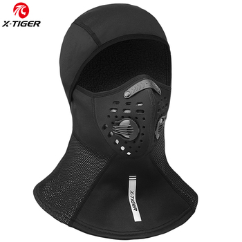 X-TIGER Winter Cycling Cap Fleece Thermal Full Face Cover Windproof Anti-Dust Cycling Mask Balaclava Skiing Skating Outdoor Hat