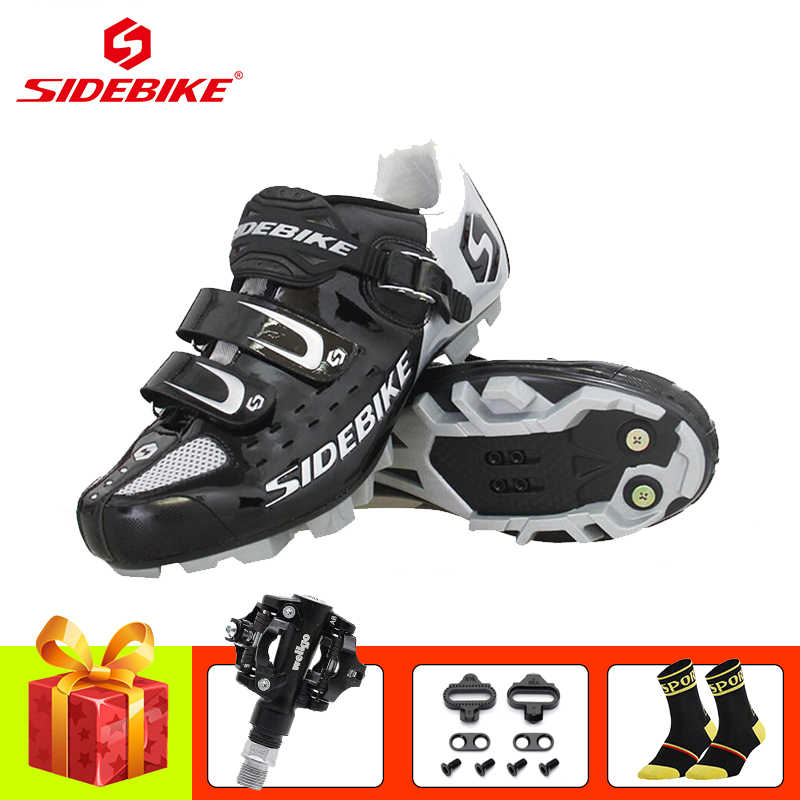 SIDEBIKE sapatilha ciclismo mtb cycling sneakers mountain bike shoes 2019 men women mtb pedals self-locking Athletic bike shoes