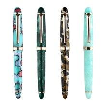S3 anti dérapant stylo plume plaqué or plume résine écriture adulte cadeau étudiant lisse EF F bureau papeterie Moonman