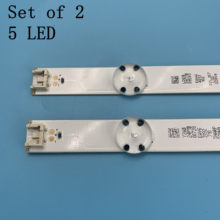2 Pcs 5LED 590 Mm LED Strip untuk LG TV 32LH510B 32LH51_HD S SSC_32INCH_HD LGE_WICOP_SVL320AL5 Innotek Langsung 32 Inch CSP(China)