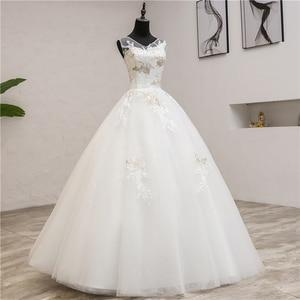 Image 3 - Vestidos de noiva moda elegante, vestidos de noiva com decote em v, novo verão, coreano, aplique, de renda, 2020 0.8