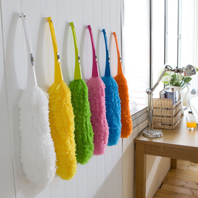 Soft Microfiber Cleaning Cloth Dust Handle Static Feather Anti Magic Household Cleaning Tools
