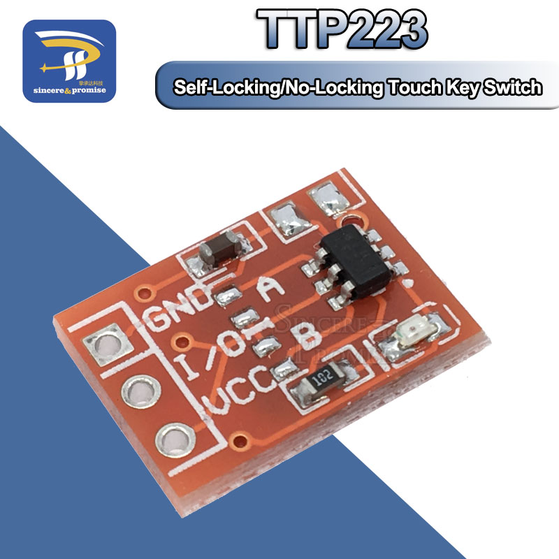 10PCS TTP223 Touch Key Switch Module Touching Button Self-Locking/No-Locking Capacitive Switches Single Channel Reconstruction(China)