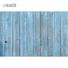 Laeacco Old Fade Blue Wooden Board Portrait Pet Grunge Photography Background Customized Photographic Backdrops For Photo Studio