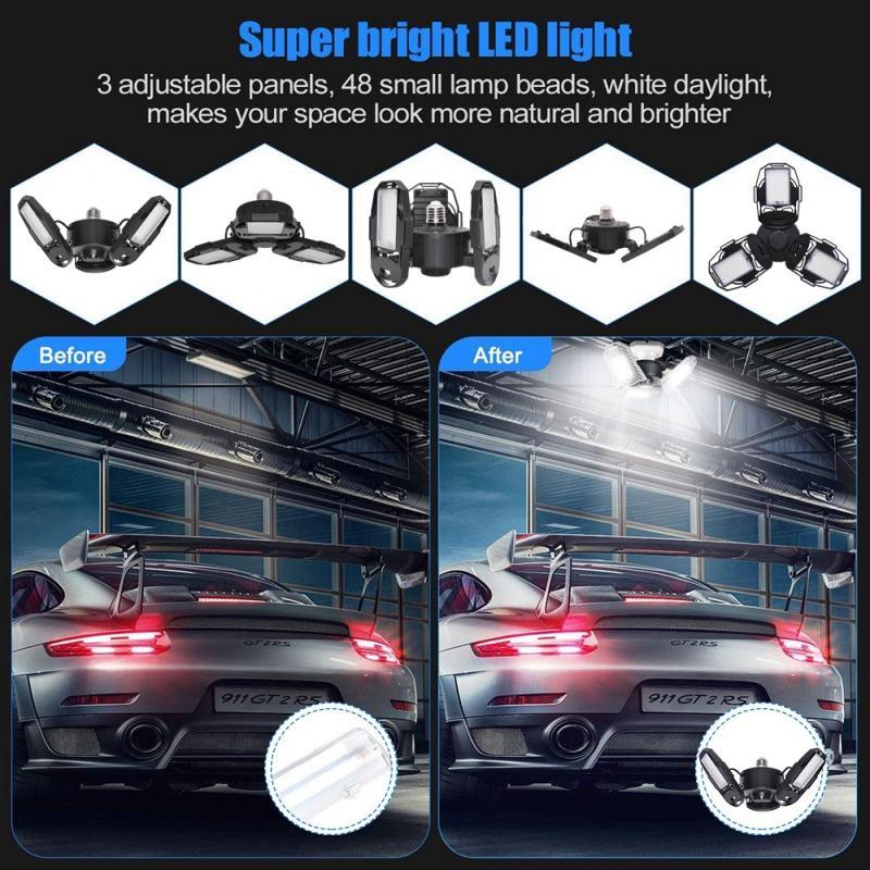 Super Bright Industrial Lighting 60W E26 E27 Led Garage Light Lamp SMD2835 Led High Bay Industrial Lamp For Workshop 6000LM