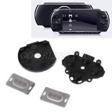 1 conjunto para o interruptor de botão borracha silicone almofada condutora substituição para sony psp 1000 transporte da gota