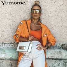 YUMOMO Hot Oversized Square Sunglasses Women Flat Top Fashion One Piece Lens Sun Glasses for Brand 2019 Shades Mirror