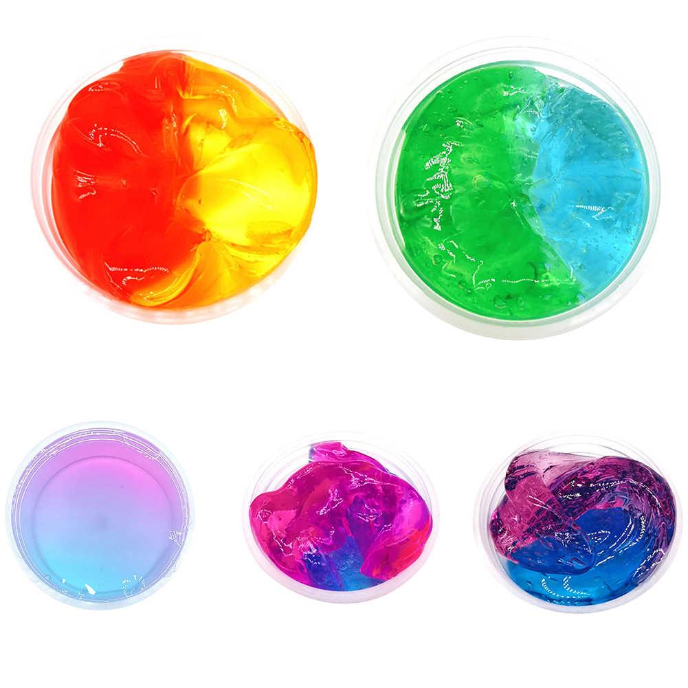 Multicolore Trasparente di Cristallo Melma Squishies Argilla Riempimento Chiaro Slime Scatola di Giocattoli per I Bambini Elastico Argilla Alleviare Lo Stress Giocattolo per Bambini