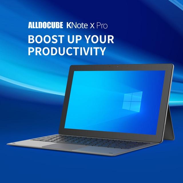 Alldocube KNote X Pro 13.3 inch Gemini lake N4120 Windows 10 Quad Core Tablet PC 8GB RAM 128GB SSD 2560*1440 IPS Tablets KNoteX 2